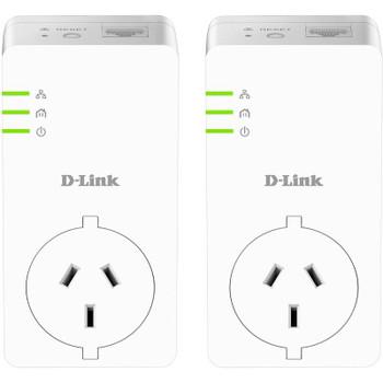 Product image for D-Link DHP-P601AV PowerLine AV2 1000 Gigabit Passthrough Kit   AusPCMarket Australia