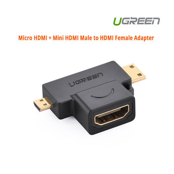 Product image for UGreen Micro HDMI + Mini HDMI Male to HDMI Female Adapter | AusPCMarket Australia