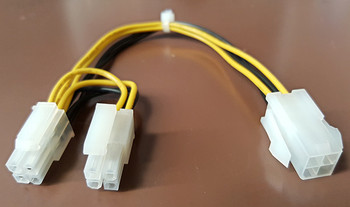 Product image for CPU 12v 4-pin to 8-pin (4-pin x2) Adapter | AusPCMarket Australia