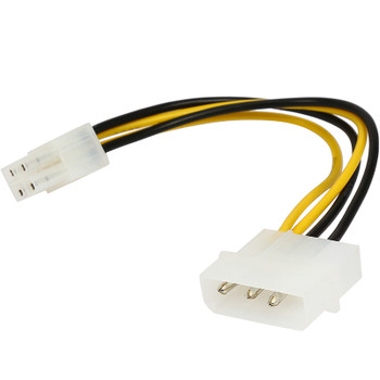 Product image for Internal Power Molex Cable 20cm - 4 pins to 8 pins ATX EPS 12V MB | AusPCMarket Australia