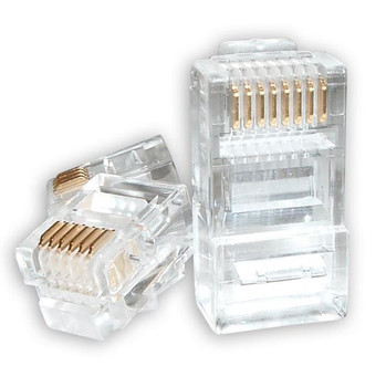 Product image for RJ45 Connector Modular Plug Crimp 8P8C CAT5e LAN Network Ethernet Head | AusPCMarket Australia
