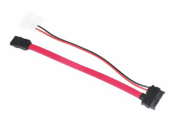 Product image for 50cm Slim SATA Cable + 10cm 6 pins + 7 pins to 4 pins + 7 pins Red | AusPCMarket.com.au