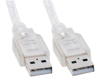 Product image for 1m USB 2.0 Cable - Type A Male to Type A Male Transparent Colour | AusPCMarket Australia