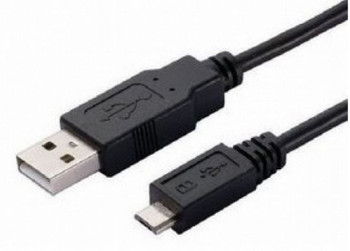 Product image for 2m USB to Micro USB Cable - Type A Male to Micro Type B Male Black | AusPCMarket Australia