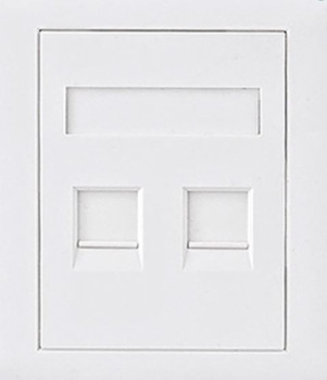 Product image for CAT6 RJ45 Wall Face Plate 86x86mm 2 Port Socket Kit | AusPCMarket Australia