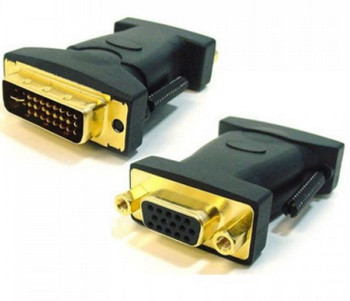 Product image for DVI to VGA Adapter Converter 24+5 pins Male to 15 pins Female | AusPCMarket Australia