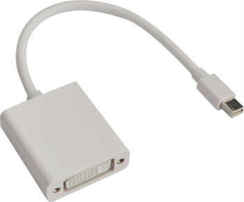 Product image for 20cm Mini DisplayPort DP to DVI Cable - 20 pins Male to 24+5 pins F | AusPCMarket Australia