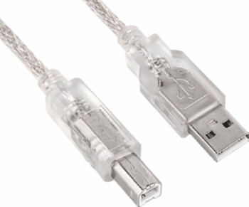 Product image for USB 2.0 Cable 3m - Type A Male to Type B Male Transparent Colour | AusPCMarket Australia