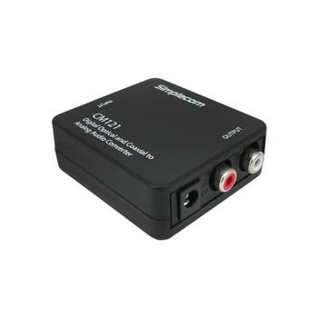 Simplecom CM121 Optical Toslink Coax to Analog RCA Audio Converter Product Image 2