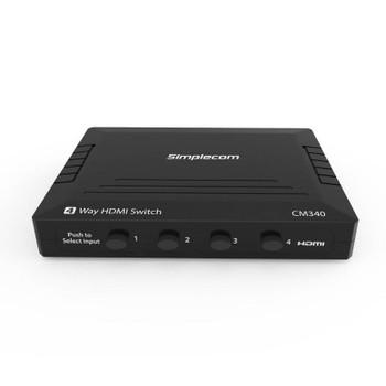 Simplecom CM340 Mechanical 4 Way HDMI Switch Box 4 Port 4K UHD Product Image 2