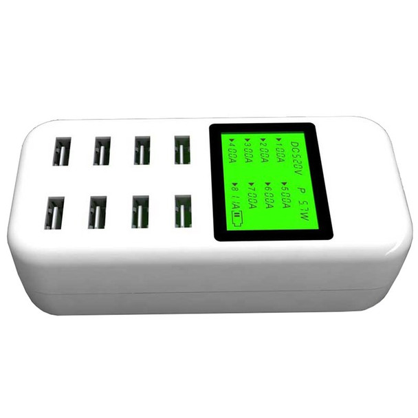 Simplecom CU880 8 Port Smart USB Charger with LCD Display Product Image 2
