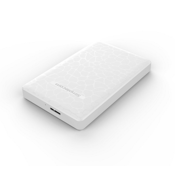 Product image for Simplecom 2.5in SATA to USB 3.0 HDD/SSD Box White   AusPCMarket.com.au