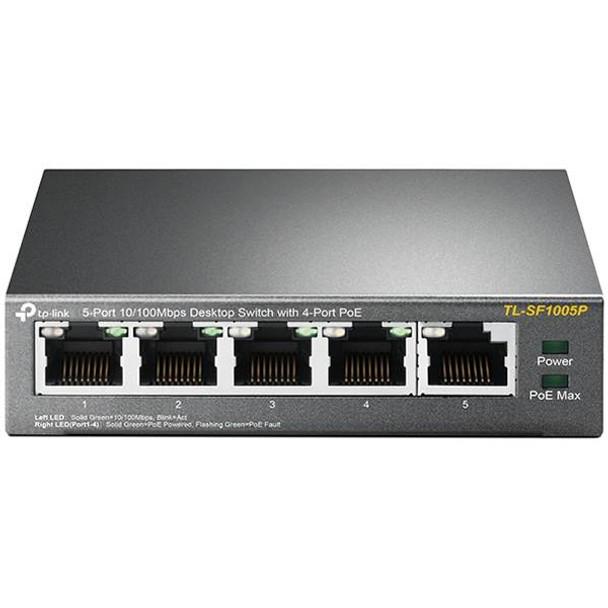 TP-Link TL-SF1005P 5-Port 10/100Mbps Desktop Switch with 4-Port PoE Product Image 4