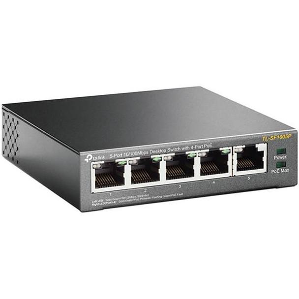 TP-Link TL-SF1005P 5-Port 10/100Mbps Desktop Switch with 4-Port PoE Product Image 5