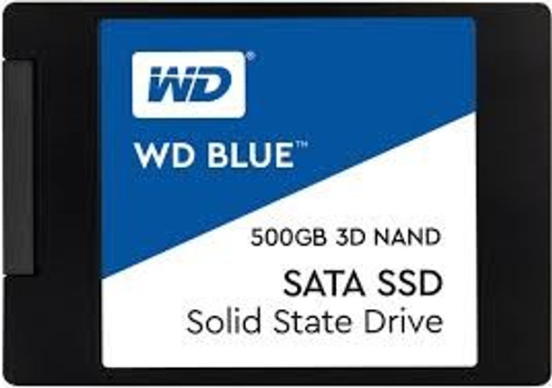 Product image for Western Digital WD Blue 2.5in SATA SSD 500GB | AusPCMarket Australia