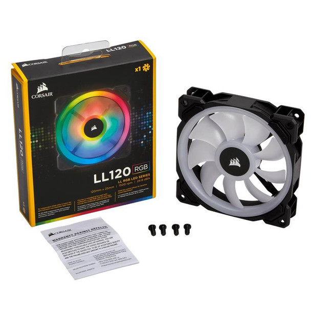 Corsair LL120 RGB 120mm Independent RGB PWM Fan Black Product Image 5