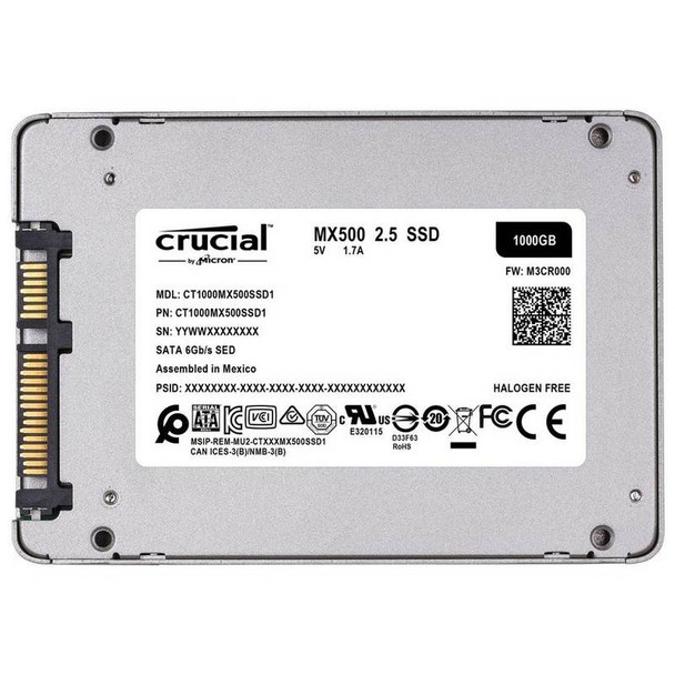Crucial 1TB MX500 2.5in SATA SSD Product Image 3