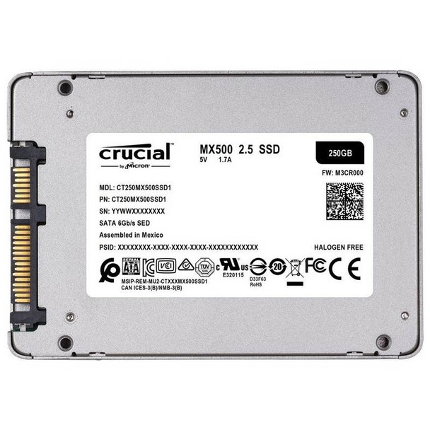 Crucial 250GB MX500 2.5in SATA SSD Product Image 3