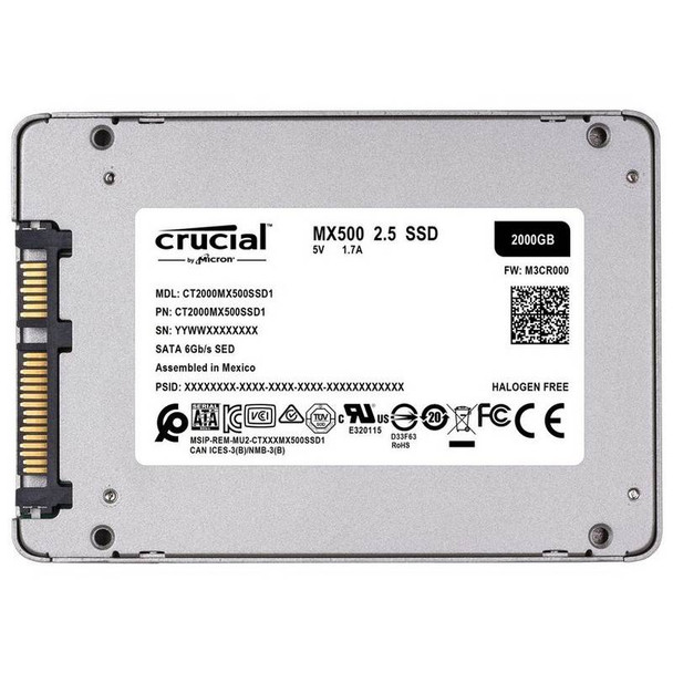 Crucial 2TB MX500 2.5in SATA SSD Product Image 3