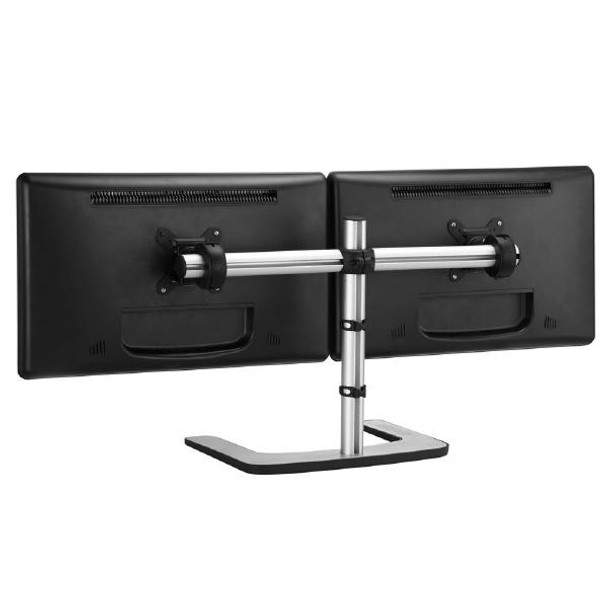 Product image for Atdec Visidec Freestanding Dual Monitor Horizontal Stand | AusPCMarket Australia