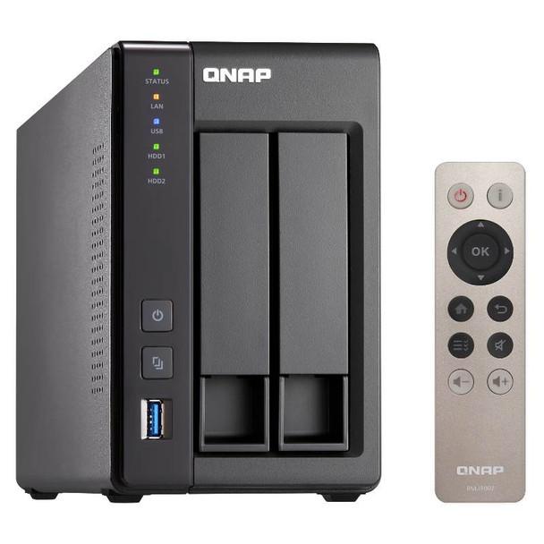 Product image for Qnap TS-251+-2G 2 Bay Diskless NAS Intel Celeron Quad Core 2.0GHz CPU 2GB RAM | AusPCMarket Australia