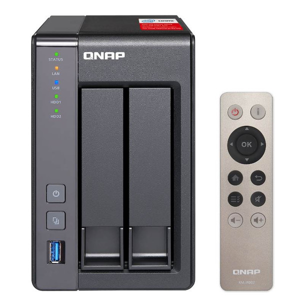 Product image for Qnap TS251+ 2 Bay, Quad Core 2.42GHZ Celeron | AusPCMarket Australia
