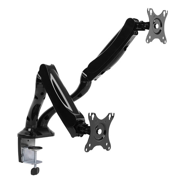 Product image for Brateck Dual Interactive Counterbalance LCD VESA Desk Mount for 13in-27in LCD Monitors | AusPCMarket Australia