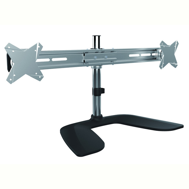 Product image for Brateck Free Standing Dual Horizontal LCD Monitors Stand from 13-27in | AusPCMarket Australia