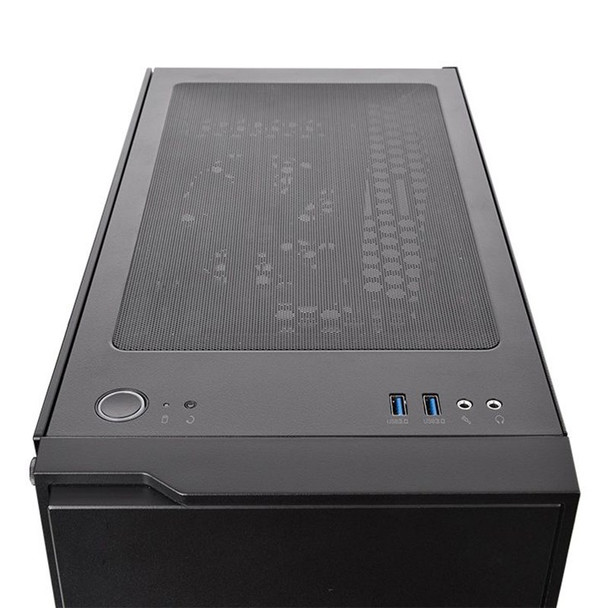Thermaltake H100 Tempered Glass Mid Tower Chassis Black Product Image 6