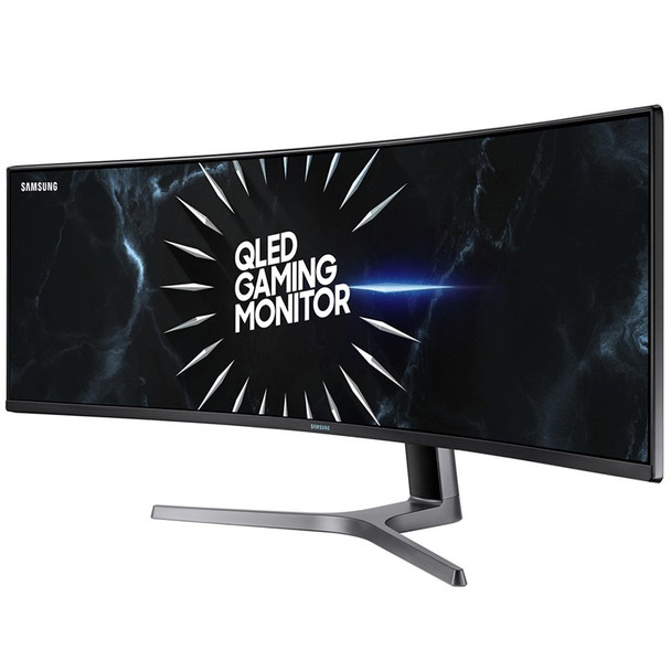 Product image for Samsung CRG9 DQHD S-UltraWide 120Hz 49in QLED Curved Monitor | AusPCMarket Australia