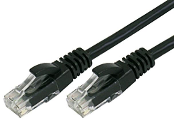 Product image for Comsol 1m RJ45 Cat 6 Patch Cable - Black   AusPCMarket Australia