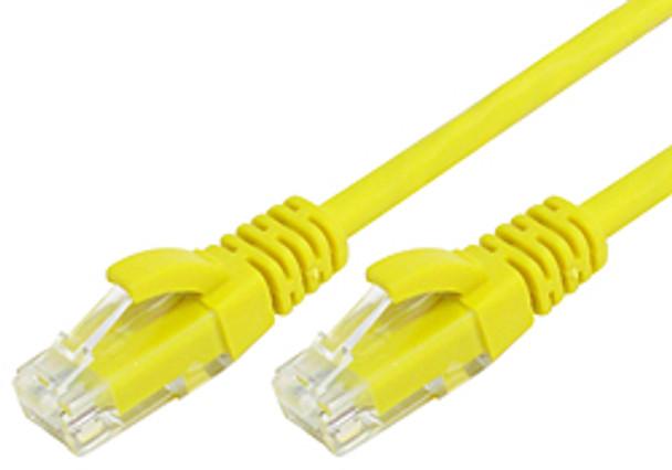Product image for Comsol 1m RJ45 Cat 6 Patch Cable - Yellow | AusPCMarket Australia