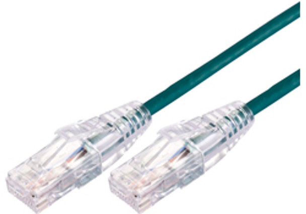 Product image for Comsol 0.5m 10GbE Ultra Thin Cat 6A UTP Snagless Patch Cable LSZH (Low Smoke Zero Halogen) - Green | AusPCMarket Australia