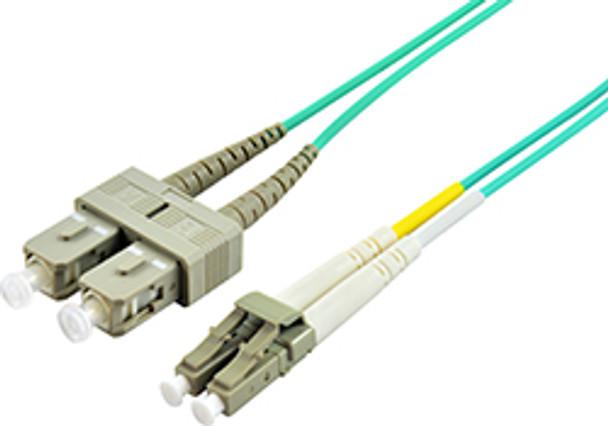Product image for Comsol 15m LC-SC Multi-Mode Duplex Fibre Patch Cable LSZH 50/125 OM3 | AusPCMarket.com.au