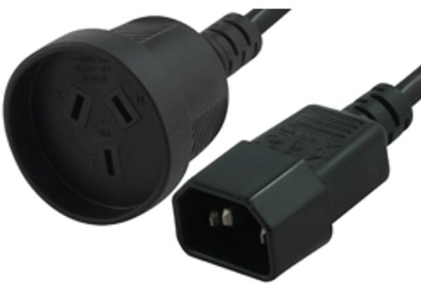 Product image for Comsol 1.5m Power Cable IEC-C14(M) - 3PIN AUS (F)   AusPCMarket Australia