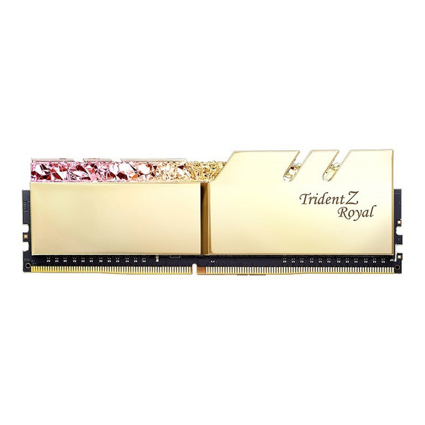 G.Skill Trident Z RGB Royal 32GB (2x 16GB) DDR4 CL16 3200MHz Memory - Gold Product Image 2