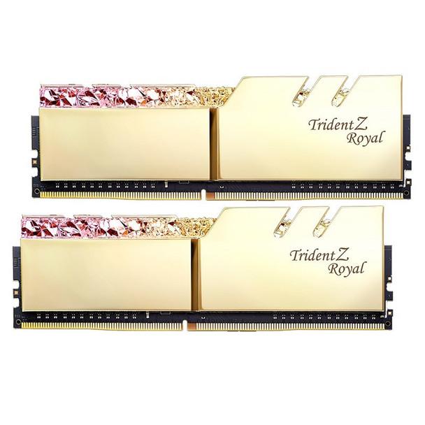 G.Skill Trident Z RGB Royal 32GB (2x 16GB) DDR4 CL16 3200MHz Memory - Gold Product Image 3
