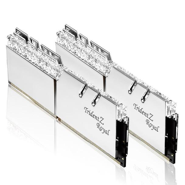 G.Skill Trident Z RGB Royal 32GB (2x 16GB) DDR4 CL16 3200MHz Memory - Silver Product Image 2