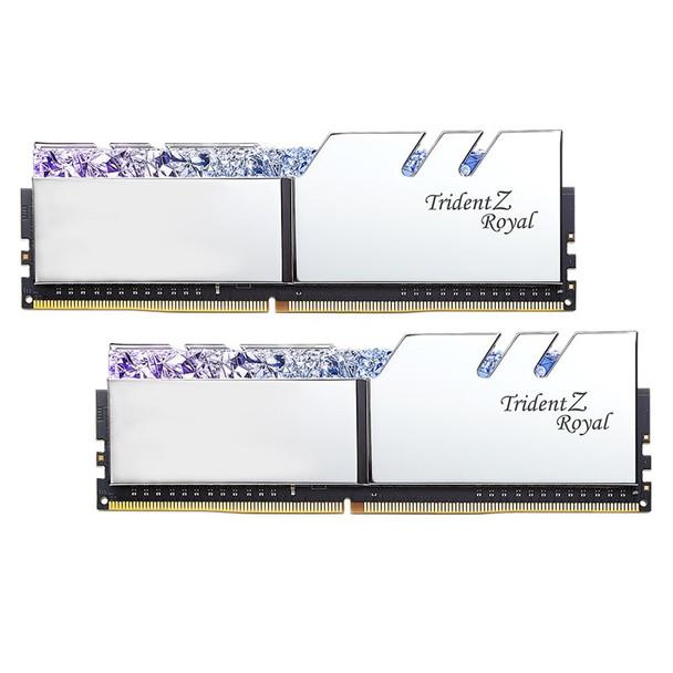 G.Skill Trident Z RGB Royal 32GB (2x 16GB) DDR4 CL16 3200MHz Memory - Silver Product Image 4
