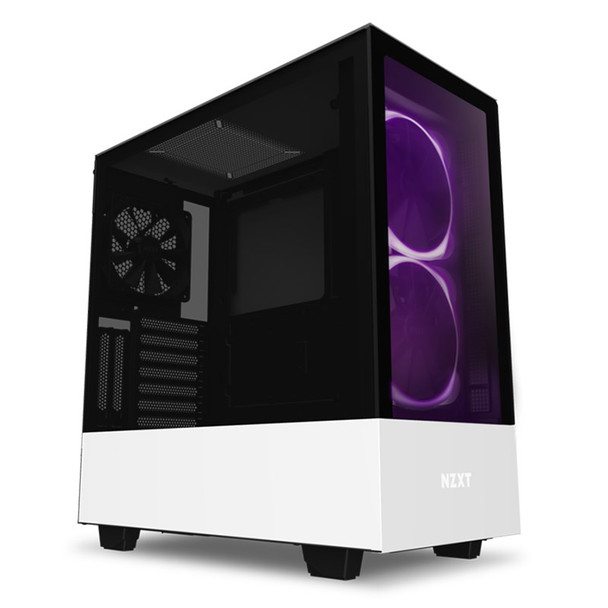 Product image for NZXT H510 Elite RGB Mid Tower Case Matte White   AusPCMarket Australia