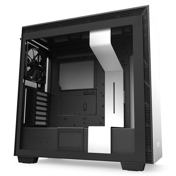 Product image for NZXT H710 Tempered Glass Mid-Tower E-ATX Case - Matte White   AusPCMarket Australia