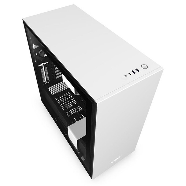 NZXT H710 Tempered Glass Mid-Tower E-ATX Case - Matte White Product Image 5