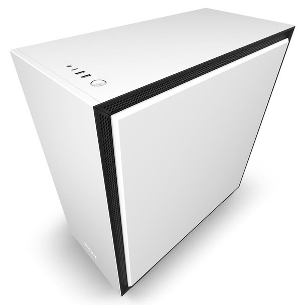 NZXT H710 Tempered Glass Mid-Tower E-ATX Case - Matte White Product Image 6