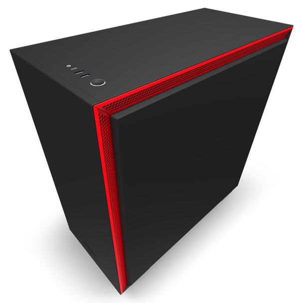 NZXT H710 Tempered Glass Mid-Tower E-ATX Case - Matte Black/Red Product Image 5