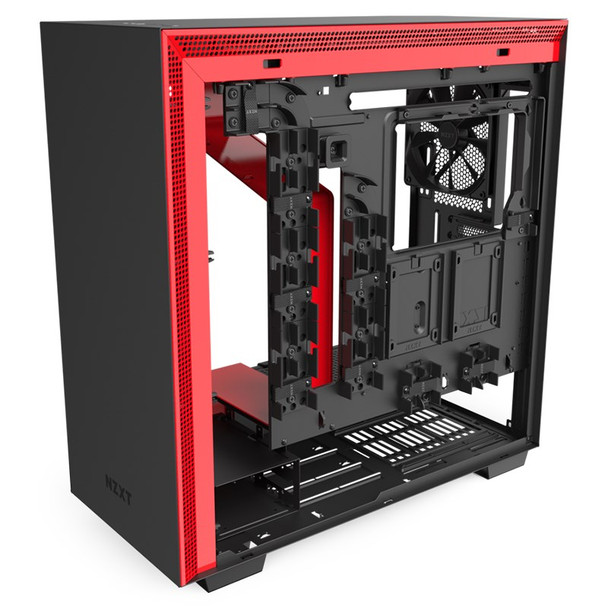 NZXT H710 Tempered Glass Mid-Tower E-ATX Case - Matte Black/Red Product Image 6