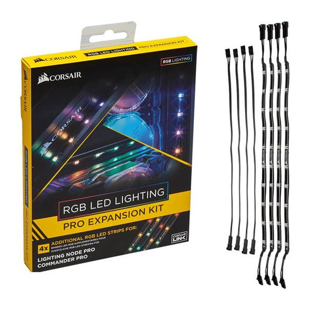 Product image for Corsair RGB LED Lighting PRO Expansion Kit for Commander Pro/Lighting Node Pro | AusPCMarket Australia