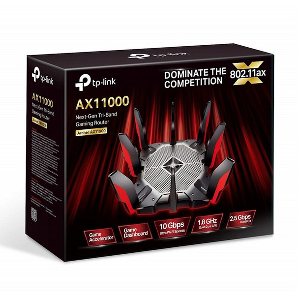 TP-Link Archer AX11000 Next-Gen Tri-Band Wi-Fi 6 Gaming Router Product Image 4