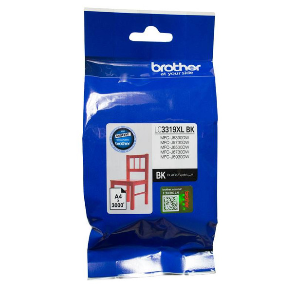Image for Brother LC-3319XLBK Black Super High Yield Ink-jet Cartridge AusPCMarket