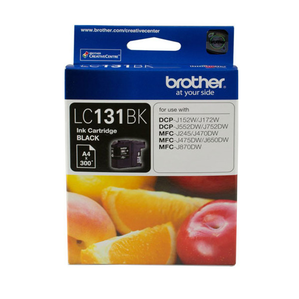 Image for Brother LC131 Black Ink Cart up to 300 pages Black AusPCMarket