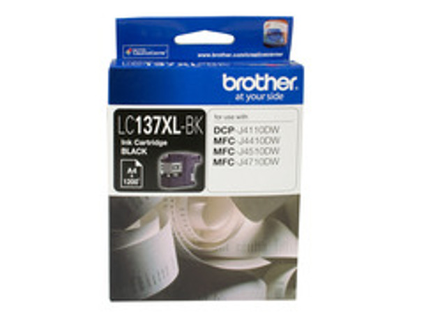 Image for Brother LC-137XLBK Ink Cartridge - Black High Yield, Up to 1200 pages AusPCMarket